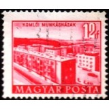 HUN Selo, 1953, (U), Yt:HU 1082, Buildings of the Five Years Plan (Edificações, Komló).