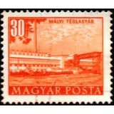 HUN Selo, 1953, (U), Yt:HU 1084, Buildings of the Five Years Plan (Brick factory, Mály).