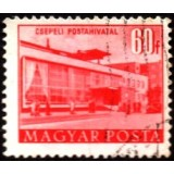 HUN Selo, 1953, (U), Yt:HU 1087, Buildings of the Five Years Plan (Post Office, Csepel).