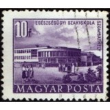 HUN Selo, 1953, (U), Yt:HU 1081, Buildings of the Five Years Plan (Medical School, Szombathely).