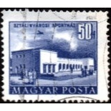 HUN Selo, 1953, (U), Yt:HU 1086, Buildings of the Five Years Plan (Sports Hall, Sztálinváros).