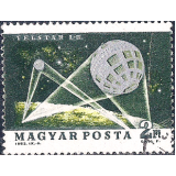 HUN Selo, 1964, (N), Yt:HU 1627, Space Exploration, Telstar 1 and 2.