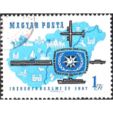 HUN Selo, 1967, (N), Yt:HU 1888, International Year of Tourism, International Tourist Year, 1967.