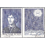 HUN Selo, 1973, (N), Yt:HU 2289, The 500th Anniversary of the Birth of Nicolaus Copernicus, 1473-1543, astronomer.