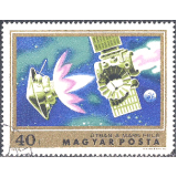 HUN Selo, 1974, (N), Yt:HU 2357, Mars Exploration, Spacecraft enroute to Mars.