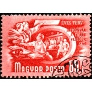 HUN Selo, 1951, Definitivo/Regular, (U), Yt:HU 933(B), Five Years Plan, Different, Watermark, Agricultural cooperation, wmk. 12.