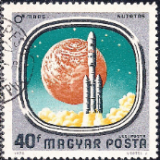 HUN Selo, 1976, (N), Correio Aéreo, Yt:HU PA384, Airmail - Space Exploration, Launch of Viking Mars Spacecraft.