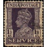 "INA Selo, 1942, (U), Yt:IN-GB S111, ""Service"" and King George VI."
