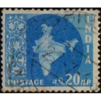 INA Selo, 1957, (N), Yt:IN 79, Map of India.