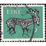 EIR Selo, 1974, (N), Yt:FI 349A, New Values, Stylised Stag, 8th Century.