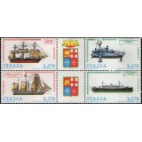 ITA Quadra, 1977, (Mint), Yt:IT 1311/1314, Italian Shipbuilding.