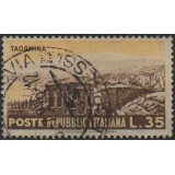 ITA Selo, 1953, (U), Yt:IT 668, Taormina and the ruins of the theater.