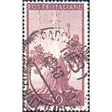 ITA Selo, 1945, Definitivo/Regular, (U), Yt:IT 502, Democracy, Tree in bloom and Italy.