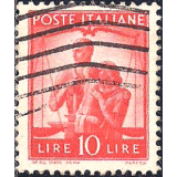 ITA Selo, 1947, Definitivo/Regular, (U), Yt:IT 497, Pair with girls and scales of justice.