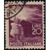 ITA Selo, Regular, 1945, (U), Yt:IT 499, Hand holding a torch.