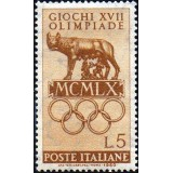 ITA Selo, 1960, (Mint), Yt:IT 812, Olympic Games (1960), She-wolf of Rome.