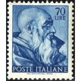 ITA Selo, 1961, Yt:IT 836, (Mint), Head of the prophet Zechariah, Works of Michelangelo.