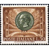 ITA Selo, 1963, Yt:IT 900, (Mint), Centenary of the Birth of Pietro Mascagni, Portrait of Pietro Mascagni, and Teatro Costanzi in Rome.