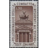 ITA Selo, 1964, Yt:IT 912, (Mint), Propylon of the monument to Vittorio Emanuele II in Rome, War Veterans' Pilgrimage to Rome.
