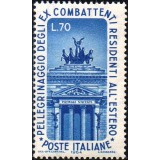 ITA Selo, 1964, Yt:IT 913, (Mint), Propylon of the monument to Vittorio Emanuele II in Rome, War Veterans' Pilgrimage to Rome.