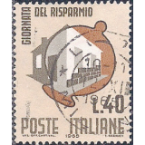 ITA Selo, 1965, (N), Yt:IT 934, Savings Day, Piggy bank and house.