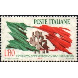 ITA Selo, 1965, (Mint), Yt:IT 921, 20°anniversary of the resistance, City martyrs.