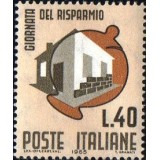 ITA Selo, 1965, Yt:IT 934, (Mint), Piggy bank and house. Day Savings.