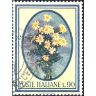 ITA Selo, 1966, (N), Yt:IT 948, Trees and Flowers, Daisies.