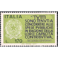 ITA Selo, 1977, (N), Yt:IT 1298, Pay Your Taxes, Encouragement to Taxpayers.