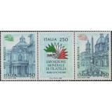 ITA Selo, 1985, Yt:IT 1648-1650, SE-TENANT (Mint), Italia 85 International Stamp Exhibition.