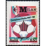 ITA Selo, 1988, (Mint),  Yt:IT 1783, Milan National Football Champion.