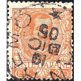 ITA Selo, 1901, Definitivo/Regular, (U), Yt:IT 66, Effigy of Vittorio Emmanuele III and floreal ornaments.