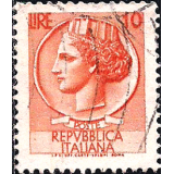 ITA Selo, 1955, Definitivo/Regular, (U), Yt:IT 711, Coin of Syracuse.