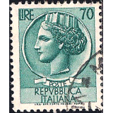 ITA Selo, 1960, Definitivo/Regular, (U), Yt:IT 718A, Coin of Syracuse.