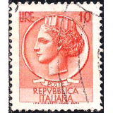 ITA Selo, 1955, Definitivo/Regular, (U), Yt:IT 711, Coin of Syracuse