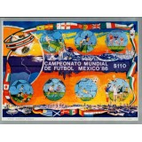 MEX Bloco, 1986, (Mint), (Raridade), Football World Cup - México 1986.