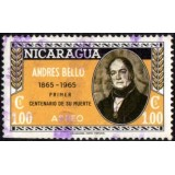NIC Selo, 1965, (U), Airmail - The 100th Anniversary of the Death of Andres Bello, Poet and Writer, (1781-1865).