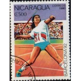 NIC Selo, 1990, (N), Yt:NI 1530, Olympic Games - Barcelona, Spain 1992 (Javelin).