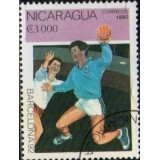 NIC Selo, 1990, (N), Yt:NI 1532, Olympic Games - Barcelona, Spain 1992 (Handball).
