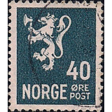 NOR Selo, 1941, (N), Yt:NO 233, National arms - Photogravure (Lion type).
