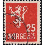 NOR Selo, 1946, (N), Yt:NO 289, Old national arms (Lion Type II).