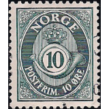 NOR Selo, 1950, (N), Yt:NO 322, Posthorn.