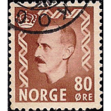 NOR Selo, 1951, (N), Yt:NO 331, King Haakon VII - New Edition.