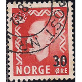 NOR Selo, 1951, (N), Yt:NO 341, Issue of 1950 Overprinted.