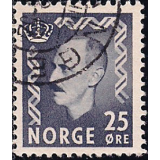 NOR Selo, 1951, (N), Yt:NO 325A, Extra Values, King Haakon VII.
