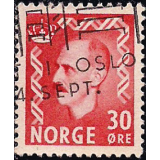 NOR Selo, 1951, (N), Yt:NO 326A, Extra Values, King Haakon VII.