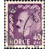 NOR Selo, 1955, (N), Yt:NO 363, King Haakon VII - New values.