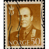 NOR Selo, 1959, (N), Yt:NO 385(A), King Olav V.