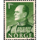 NOR Selo, 1959, (N), Yt:NO 386, King Olav V.