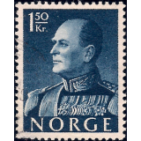 NOR Selo, 1959, (N), Yt:NO 387, King Olav V.